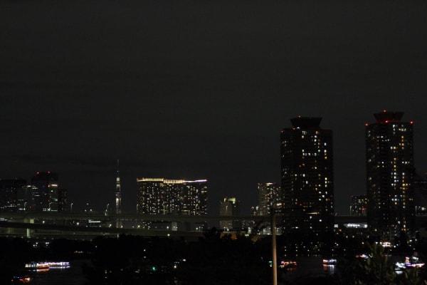 夜のお台場風景