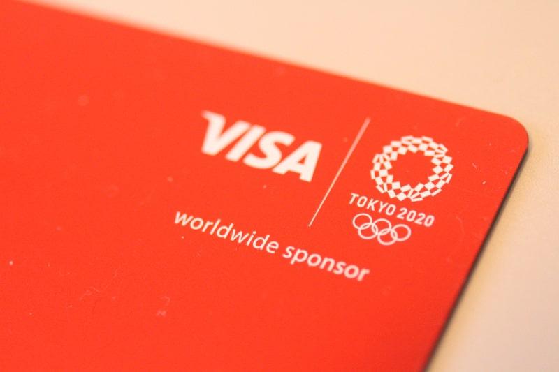 オリンピックシンボル付きのカードは2020年限定デザイン