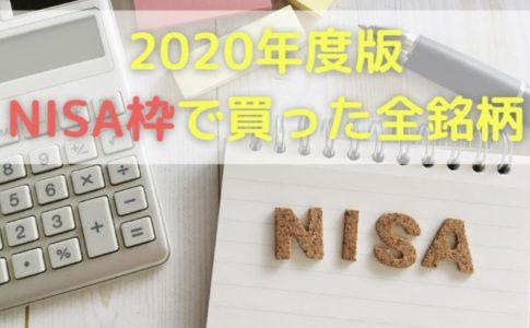 2020年度にNISA口座で買った全5銘柄を公開!